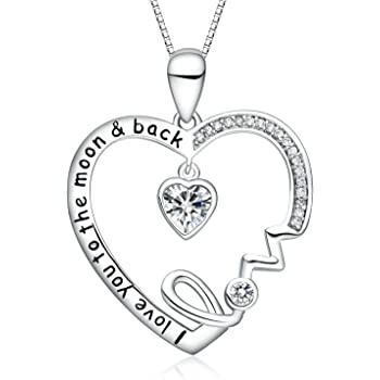Jewels Obsession I Love Grandma Necklace Rhodium-plated 925 Silver I Love Grandma Pendant with 30 Necklace