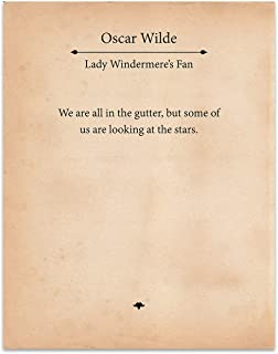 Oscar Wilde - We Are All In The Gutter, But Some Of Us Are Looking At The Stars- 11x14 Unframed Typography Book Page Print - Great Gift for Book Lovers and Bookworms