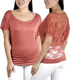 ToBeInStyle Women's Relaxed Fit Dolman Blouse Top Soft Feel