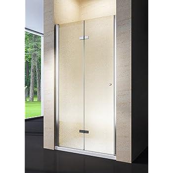 104-109 cm Porta doccia a libro soffietto pvc bianco acrilico h.185cm DOPLAS