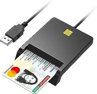 接触型ICカードリーダーライター 電子申告(E-Tax) 納税(e-Tax) 自宅で確定申告 USB接続ICチップのついた住民基本台帳カード マイナンバーカード 住基カードに対応 Windows Mac OS対応 (ブラック)