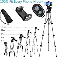 Alovexiong 110cm General Phone Camera Tripod Rotatable Aluminum Lightweight Stand+Remote Control+Smartphone Clip Holder Mount for iPhone 6 7 8 Plus X XR XS Max Galaxy S7 S8 S9 S10 Smartphone Camera