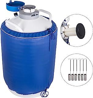 BestEquip 20L Liquid Nitrogen Tank Aluminum Alloy Liquid Nitrogen Dewar Static Cryogenic Container Liquid Nitrogen Container with 6 Canisters and Carry Bag