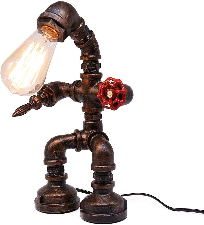 Vintage Industrie Tischlampe, Nachttischlampe Antik Antik Antik Rost Farbe Steampunk Metall Tischlampe E27 Lampenfassung B07K44TVJ8 | Kostengünstig  eafc0c