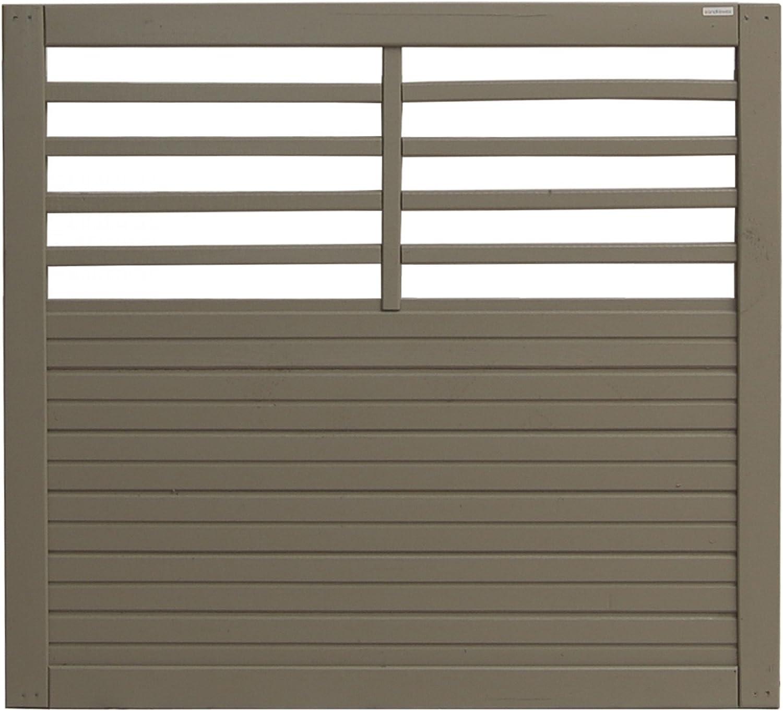 Andrewex wooden wicket, garden fence, fencing panel 90x100, varnished, grey