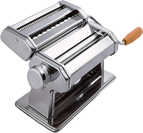 high quality Pasta Maker Machine Hand Crank popular - new arrival Roller Cutter Noodle Makers Best for Homemade Noodles Spaghetti Fresh Dough Making Tools Rolling Press Kit - Stainless Steel Kitchen Accessories Manual Machines sale