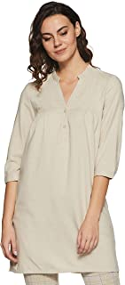 VERO MODA Women's Linen Shift Dress