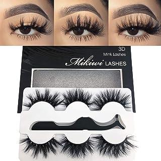 Mikiwi Real Mink lashes, 3D Mink Lashes, 5D Mink Lashes, Fluffy Long Mink Eyelashes, Dramatic Lashes, Luxury Makeup, Valen...