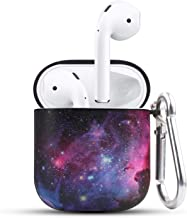 HIDAHE Airpod Cases, Airpod Case Cute, Airpod Case Luxury, Cute Protective Hard Designer Airpods Case for Girls Men Women with Keychain Compatible with Apple AirPods Charging Case 2&1,Nebula