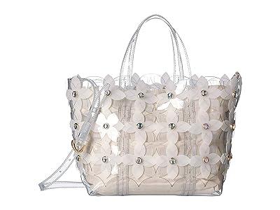 ZAC Zac Posen Floral Bouquet Shopper (Clear) Handbags