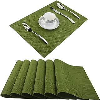 Best sage green table mats Reviews