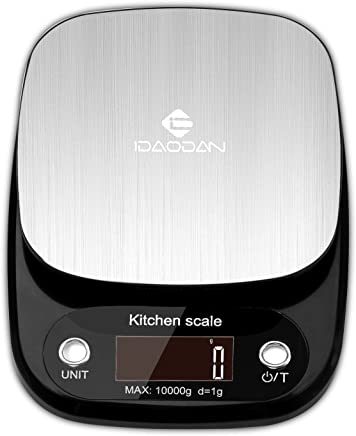 Digital Kitchen Scale by IDAODAN, Multifunction Food Scale Large Weight Max 22lb 10kg, with LCD Display, Auto Shut-Off and Tare Function, Perfect for Baking Kitchen Cooking