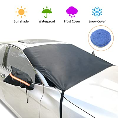 epzoee Windshield Snow Ice Cover(Non-Magnetic)-...
