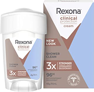Rexona Women Antiperspirant Cream Clinical Shower Clean, 45ml