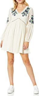cupcakes and cashmere womens lynsey chiffon peasant dress with floral embroidery Dress
