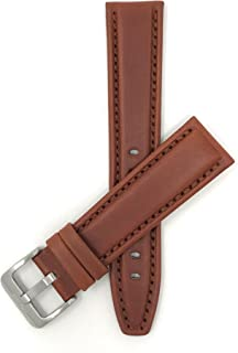 Mens Leather Watch Band - 2 Colors -12mm to 22mm (Extra Long Available)