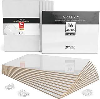 comprar comparacion Arteza Tableros de pizarra blanca pequeña | Conjunto de 16 tableros de doble cara | Tamaño 22,5 x 30 cm | Pizarras de rotu...