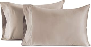CHATEAU HOME COLLECTION Hotel Style True Luxury 100% Egyptian Cotton 800-Thread-Count Standard Size Solid Taupe 2-Piece Pillowcase Set - Single Ply Soft Sateen Weave Pure Cotton Premium Yarns