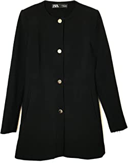 7c1bb9d3 Zara Women's Snap-Button Frock Coat 2140/349