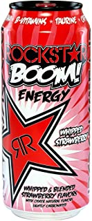 Rockstar Boom Energy - Whipped Strawberry - 16oz. (Pack of 4)