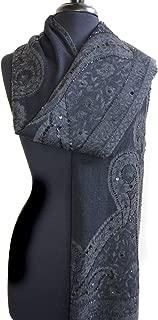 Twinkle Tonal Black Wool Scarf