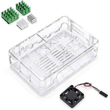 Aukru Transparent Gehäuse Case Für Raspberry Pi 4 Elektronik