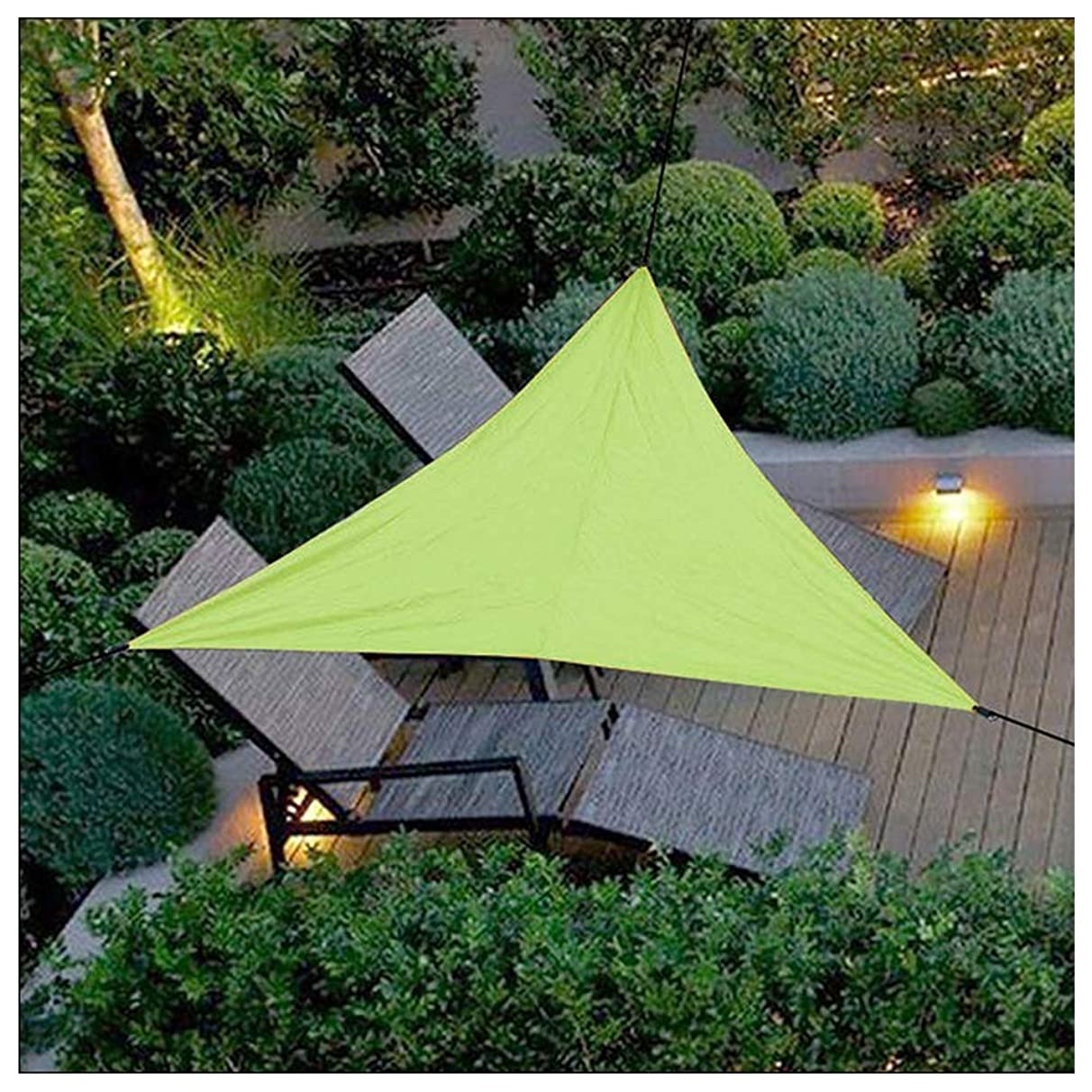 Awnings 2'x 2'x 2' Garden Waterproof Mildew Shade Sail Triangle 95% Uv Protection for Porch Deck Swimming Pool Car Port Our Custom Size