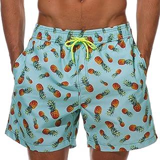 XmasPJS Mens Slim Fit Quick Dry Short Swim Trunks with Mesh Lining