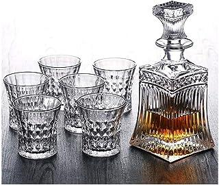 Verres à cocktail, Decanter de Whisky Decanter Crystal 7pc Crystal Whisky Decanter et Verres de Whisky Set Cristal Decante...