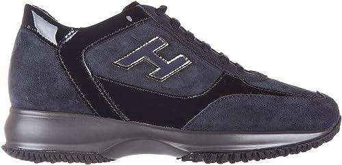 Hogan scarpe sneakers donna camoscio nuove interactive allacciata ...