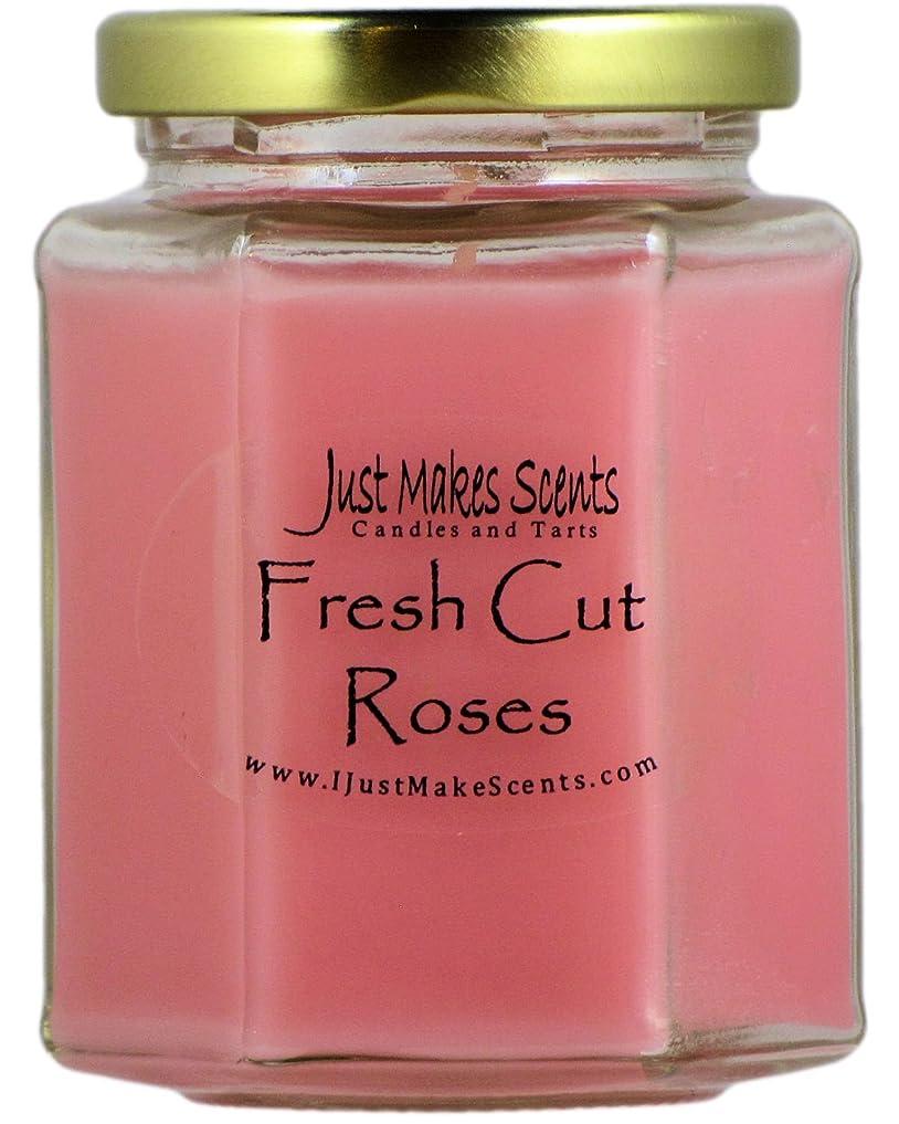 スタンドパノラマ無駄なFresh Cut Roses ( Compare to Yankee Candle )香りつきBlended Soy Candle by Just Makes Scents