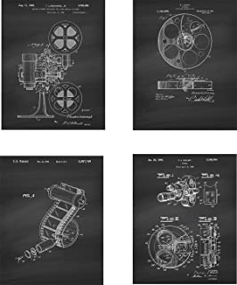 Film Production Patent Wall Art Prints - set of Four (8x10) Unframed - wall art decor for movie fans and directors