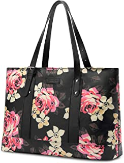 Women Laptop Tote Bag, 15.6 Inch Notebook Ultrabook Shoulder Bag