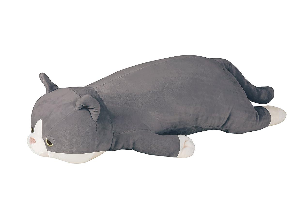 厚い箱勇気りぶはあと 抱き枕 ハチワレネコのふく W69x28xH17cm 58201-00