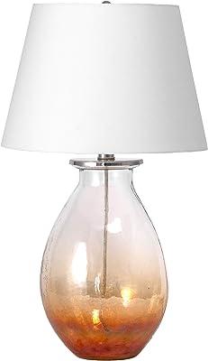 """nuLOOM Crossett 22"""" Glass Table Lamp"""