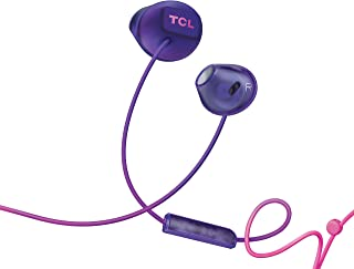 TCL SOCL200 In-Ear Earbuds Wired Headphones with 12.2mm Speaker Drivers for Rich Bass and Clear Sound, Built-in Mic – Sunrise Purple