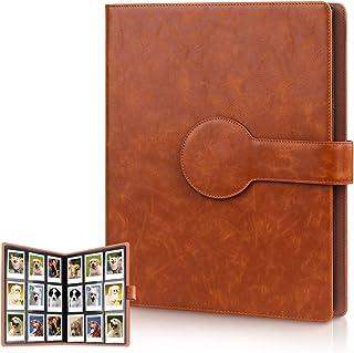 Cpano álbum de Fotos para Fujifilm Instax Mini 87S 8+ 9252650s 90 SP-2 SP-1 Polaroid Z2300 PIC-300P de 3 Pulgadas Polaroid películas y Tarjeta de Nombre (Marrón Brillante 396 Bolsillos)