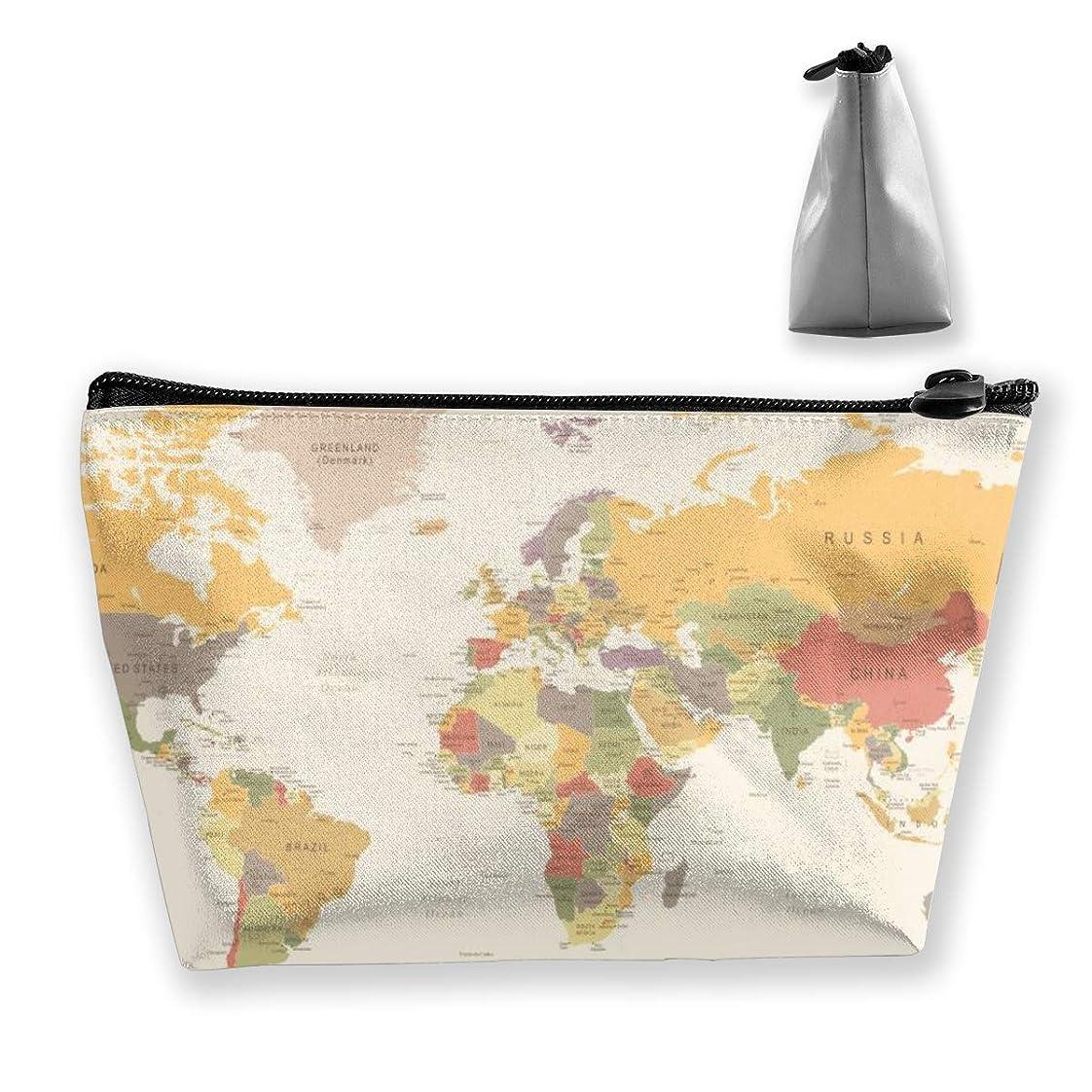フィットネス眉をひそめる空虚Joycego レトロ ワールドマップ 化粧品袋の携帯用旅行構造の袋の洗面用品の主催者