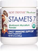 Host Defense, Stamets 7 Mushroom Powder, Daily Immune Support, Certified Organic Supplement, 3.5 oz (66 Servings)