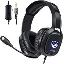 Stereo Gaming Headset with Microphone for Xbox One, PS4 and PC, USB Gaming Headphone with 7.1 Surround Sound, LED Light & ... photo
