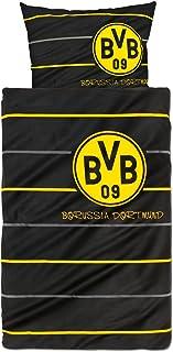 Borussia Dortmund 8254-00-1-01 Bettwäsche Polostreifen linon