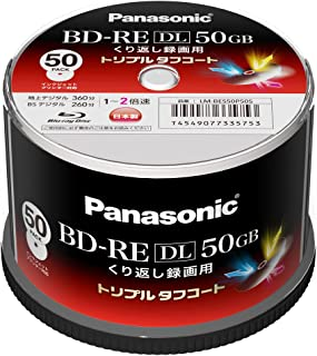 Panasonic 録画用2倍速 ブルーレイディスク片面2層50GB(書換型)スピンドル50枚 LM-BES50P50S