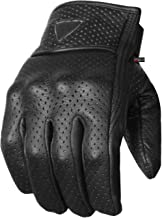 Premium Men's Motorcycle Leather Perforated Cruiser Protective Gel Gloves XL