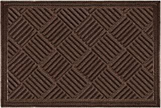 Mibao Entrance Door Mat Large Heavy Duty Front Outdoor Rug Non-Slip Welcome Doormat for Entry, 24 x 36 inch, Coffee