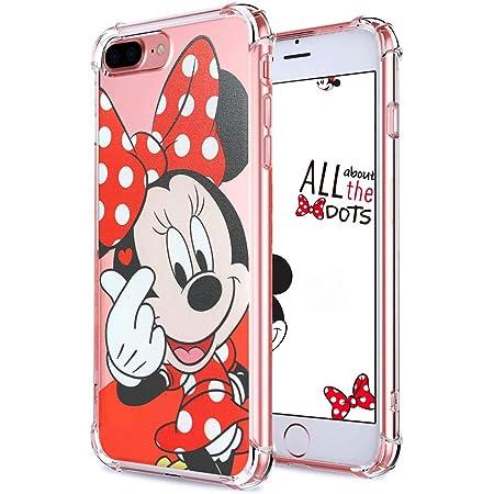 Darnew Heart Minnie Custodia per iPhone 7 Plus/8 Plus, Cartone Animato Carino Morbido TPU Freddo Divertimento Divertente Cover per Bambini Ragazze ...