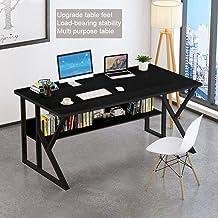 Desktop Computer Desk, Home Office Modern Writing Table Gaming Desk (1 Piece, Black)