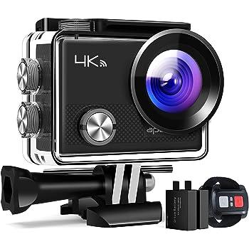 APEMAN Action Cam A77, 4K 20MP Wi-Fi Impermeabile 30M con Telecomando Fotocamera Subacquea Digitale, Hyper Stabilizzazione Videocamera