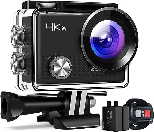 APEMAN Action Cam A77, 4K 20MP Wi-Fi Impermeabile 30M con Telecomando Fotocamera Subacquea Digitale, Hyper Stabilizza...