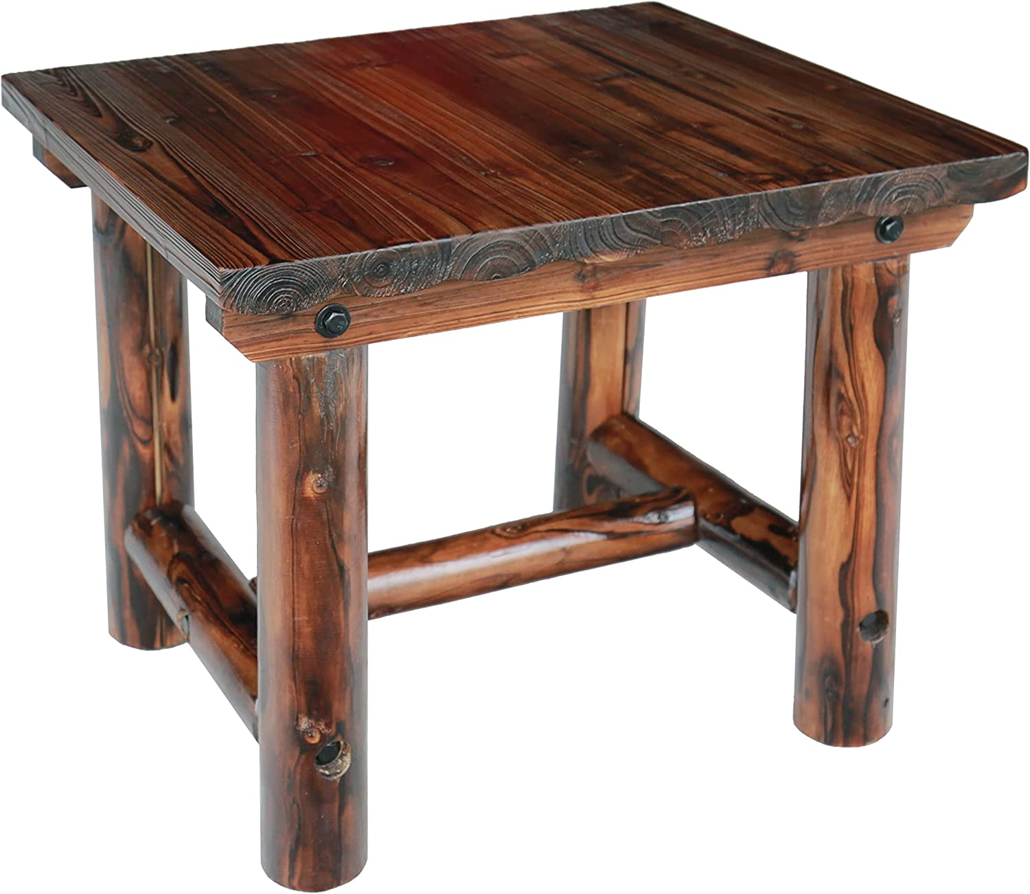 Leigh Country TX 96012 Char-Log Side Table, Brown