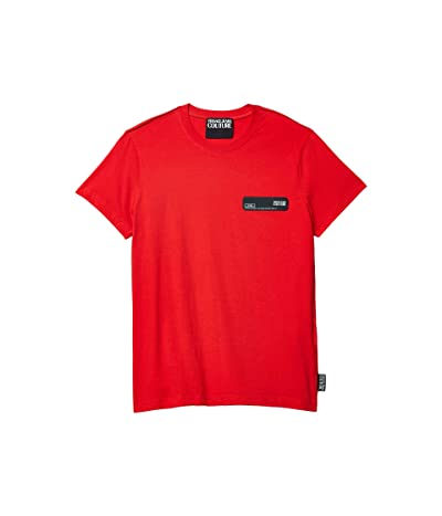 Versace Jeans Couture T-Shirt Rubber Logo Patch (Racing Red) Men